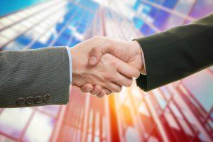 Business Handshake Skyscrapper